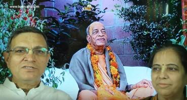 Navkishore Gauranga Das and Chaitanya Prema Devi Dasi